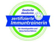 Logo Zertifizierte Immuntrainerin DAHN